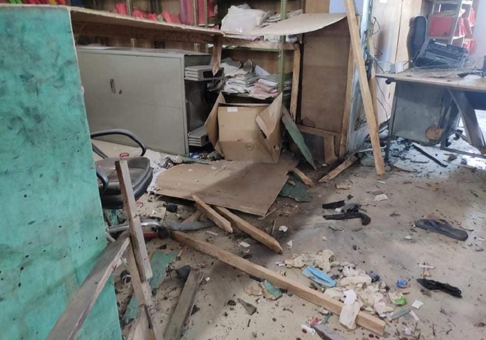 बम विस्फोटपछि मालपोत कार्यालय ठप्प