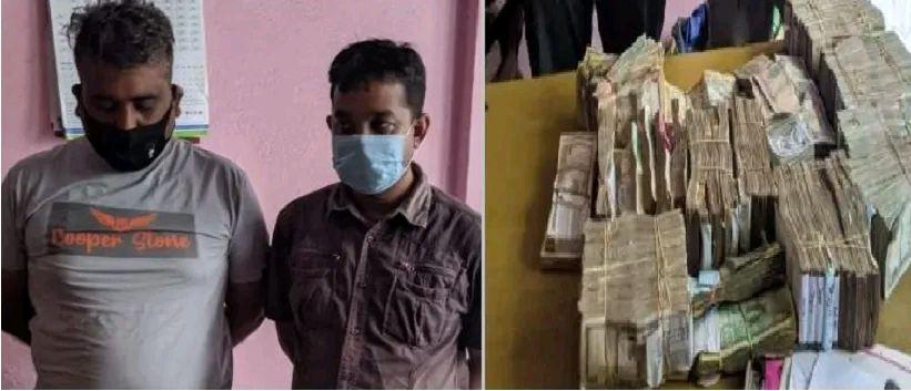 श्रोत नखुलेको ९५ लाख रुपैयाँसहित मुम्बईका २ जना पक्राऊ।